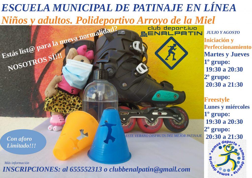 Clases de patinaje en línea para niños y adultos en Arroyo de la Miel (Benalmádena)